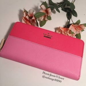 KATE SPADE LACEY CAMERON STREET LEATHER WALLET